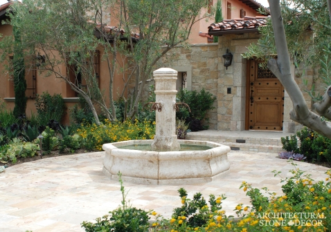 reclaimed limestone tuscan pool fountain 13