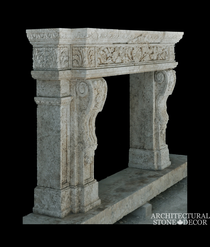 Architectural-Stone-Decor-Limestone-Stone-Fireplace-Antique-Reclaimed-Mantel-italian-baroque