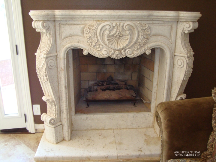 Architectural-Stone-Decor-Limestone-Stone-Fireplace-Antique-Reclaimed-Mantel-LOUIS-XV-style (2)