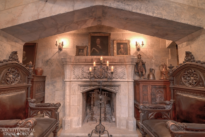 Architectural-Stone-Decor-Limestone-Stone-Fireplace-Antique-Reclaimed-Mantel-Tudor-Gothic