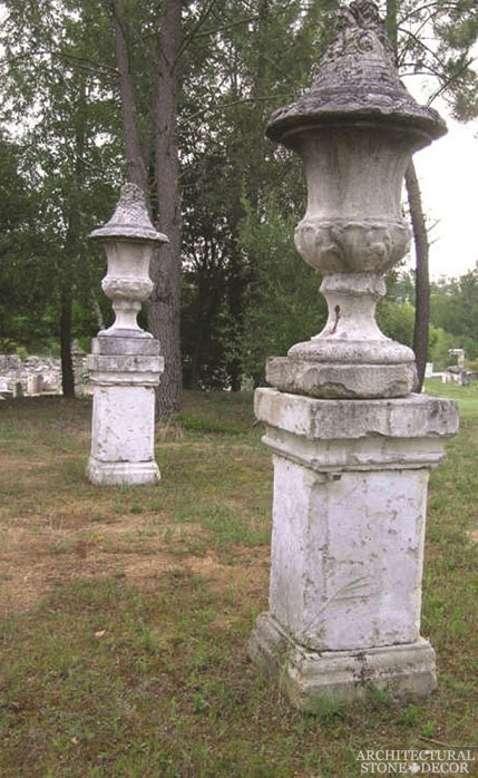 Pedestal-10-limestone-hand carved-reclaimed-flooring-backyard-outdoor-vases-canada