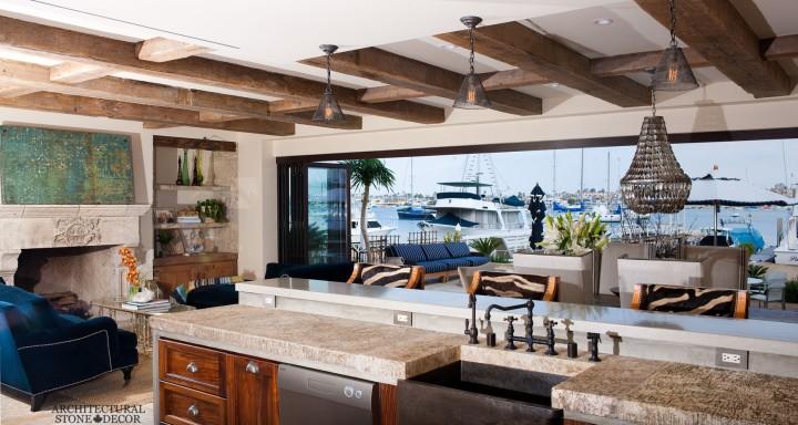 Modern-Neolithic-limestone-rustic-kitchen-flooring-countertop-butcher-block-antique-slab-sink-coastal3