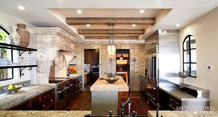 Modern-Neolithic-limestone-rustic-kitchen-flooring-countertop-butcher-block-antique-slab-sink-coastal4