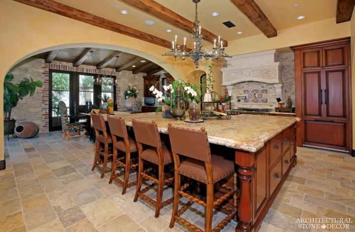 Tuscan-kitchen-reclaimed-limestone-sink-countertop-flooring-hood-flooring-3