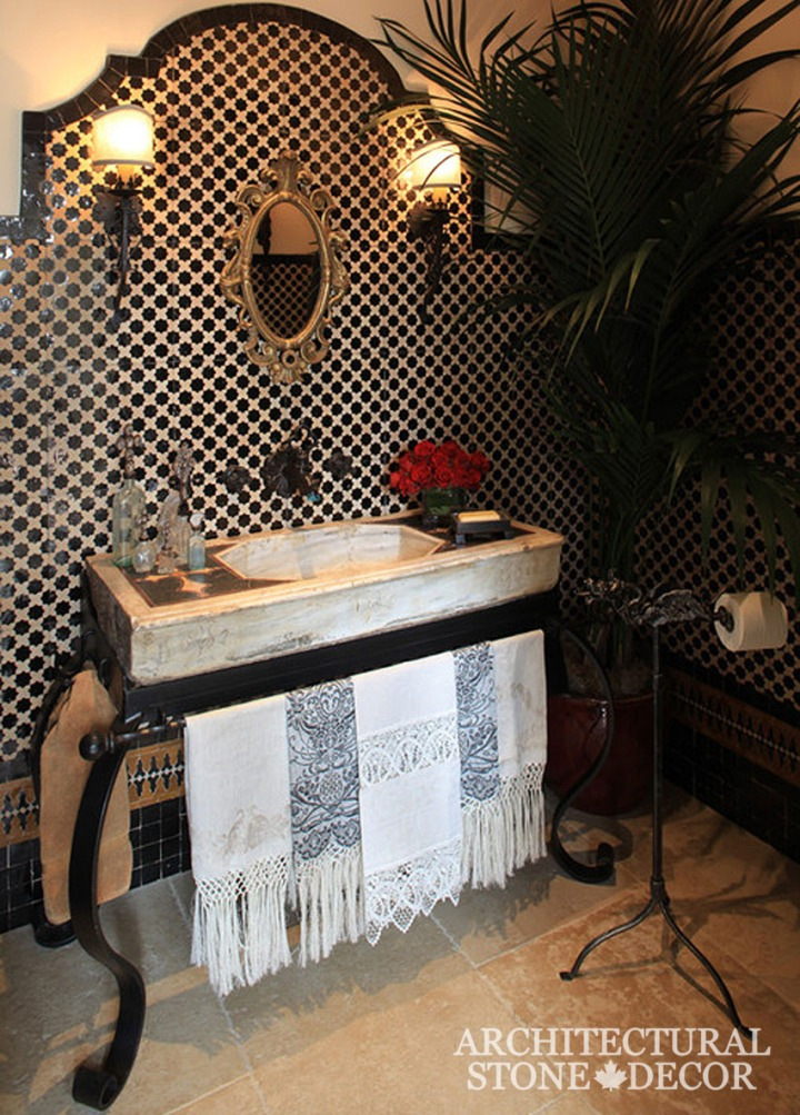 Bathroom-Inlayed-Marble-Sinks-reclaimed-hand-carved-gothic-style-powder-room