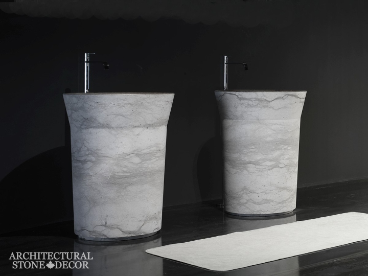 Bathroom-Marble-reclaimed-hand-carved-pedestal-vanity-Sink-his-and-hers-modern-style