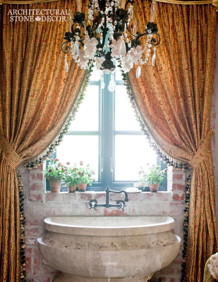 Bathroom-powder-room-half-Moon-reclaimed-hand-carved-Limestone-Sink-French-style