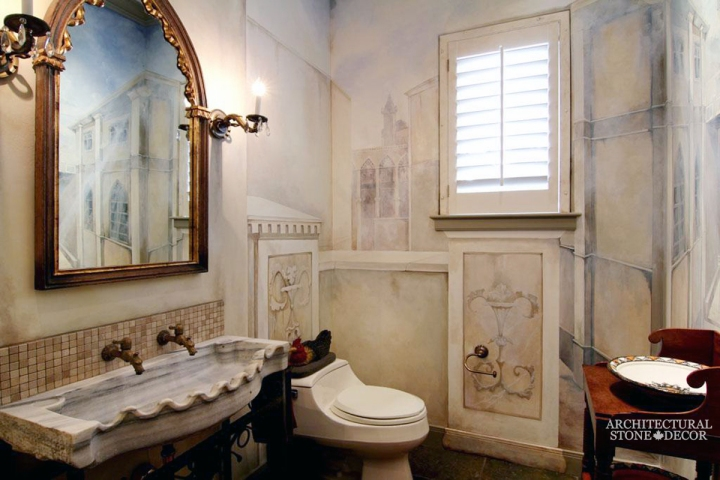 Bathroom-sea-Shell-double-Marble-reclaimed-hand-carved-Sink-Italian-Style