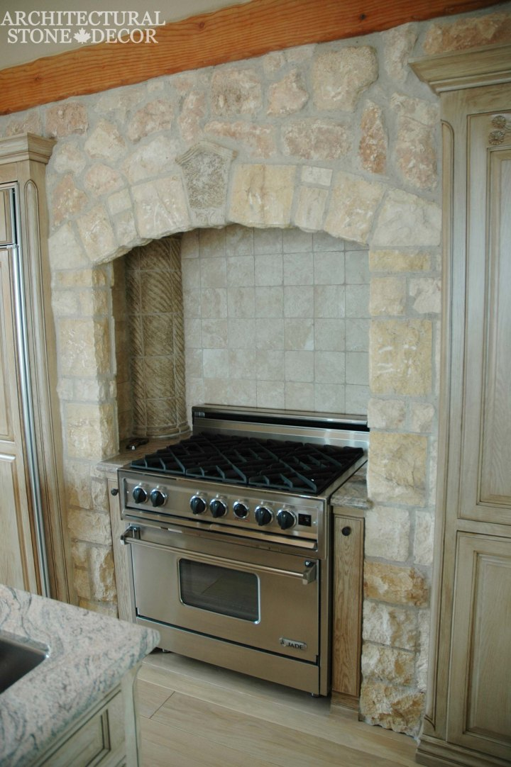 Farmhouse-style-reclaimed-limestone-canada-architectural-stone-decor-kitchen-hood-wall-cladding
