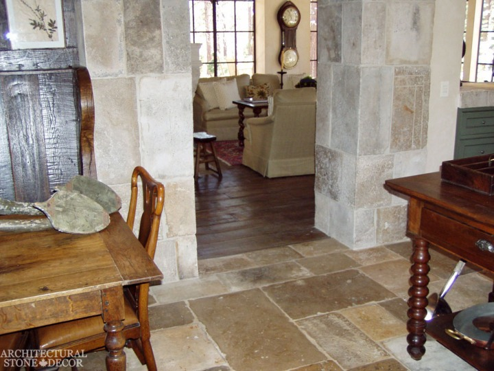 French style reclaimed limestone dalle de Bourgogne
