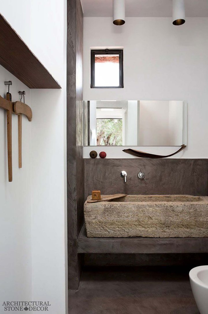 Game of Thrones Medieval Gothic hand carved ancient rustic reclaimed trough sink bathroom.