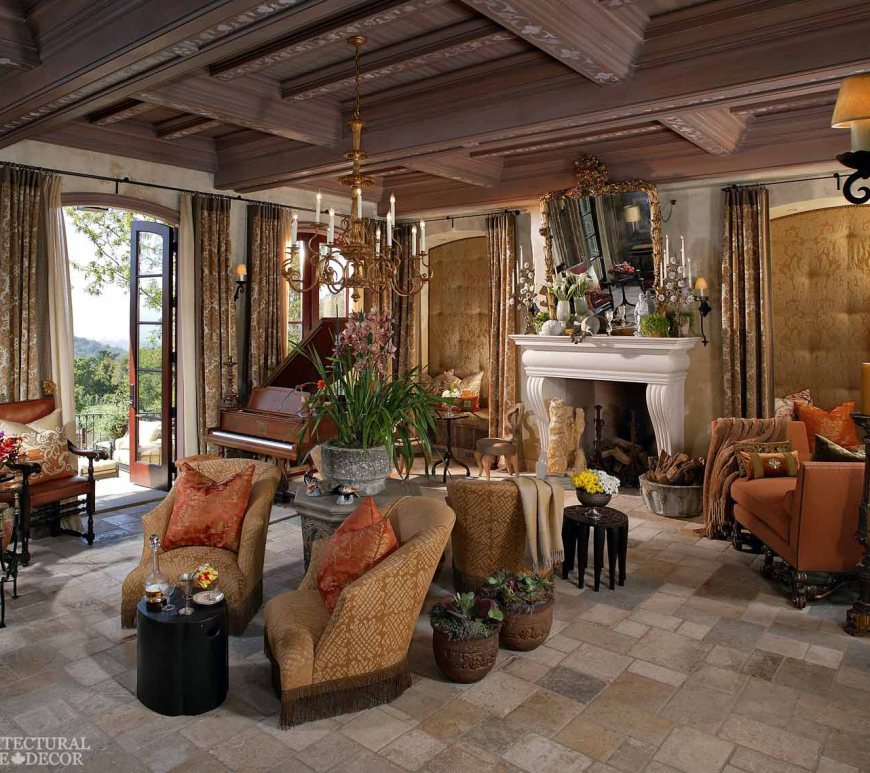 Dalle de Bourgogne reclaimed salvaged antique limestone flooring tiles music room living room canada toronto