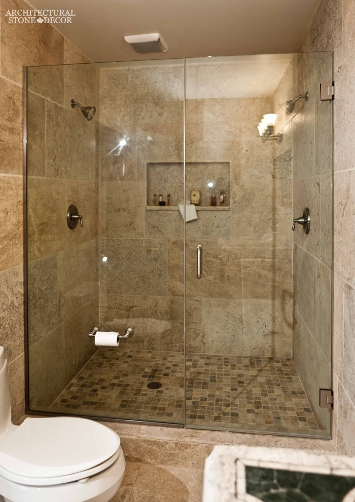antique rustic reclaimed natural limestone stone flooring tiles planks old world Barre Blonde bathroom shower