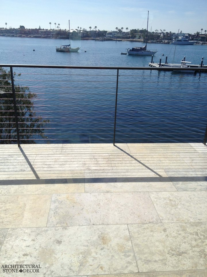 antique rustic reclaimed natural limestone stone flooring tiles planks old world Barre Blonde terrace