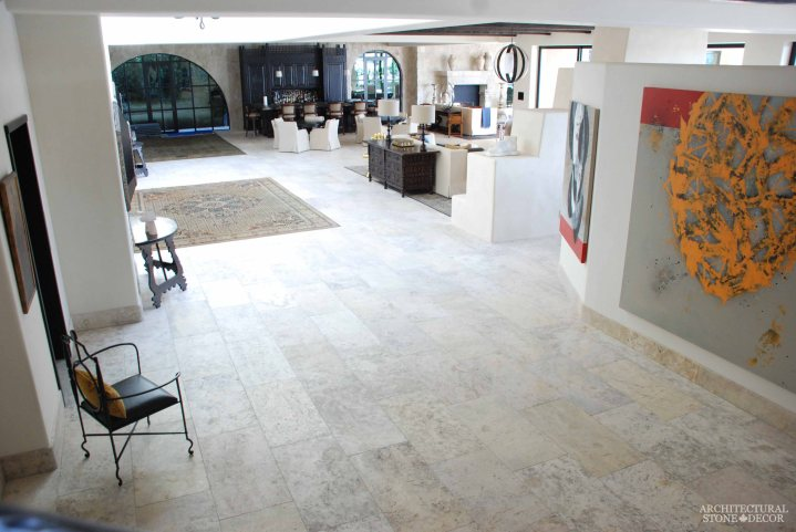 antique rustic reclaimed natural limestone stone flooring tiles planks old world Barre Blonde