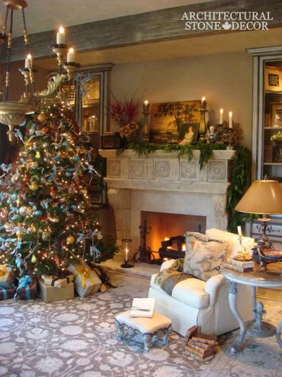 indoor-limestone-fireplace