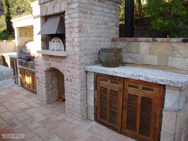 Canada outdoor kitchen barbecue landscape design home decor natural old limestone
