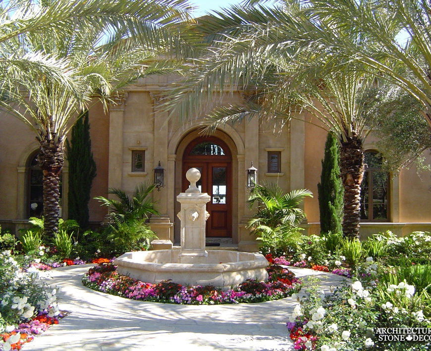 stone-pool-fountain-limestone-beautiful-canada-entryway-lion heads
