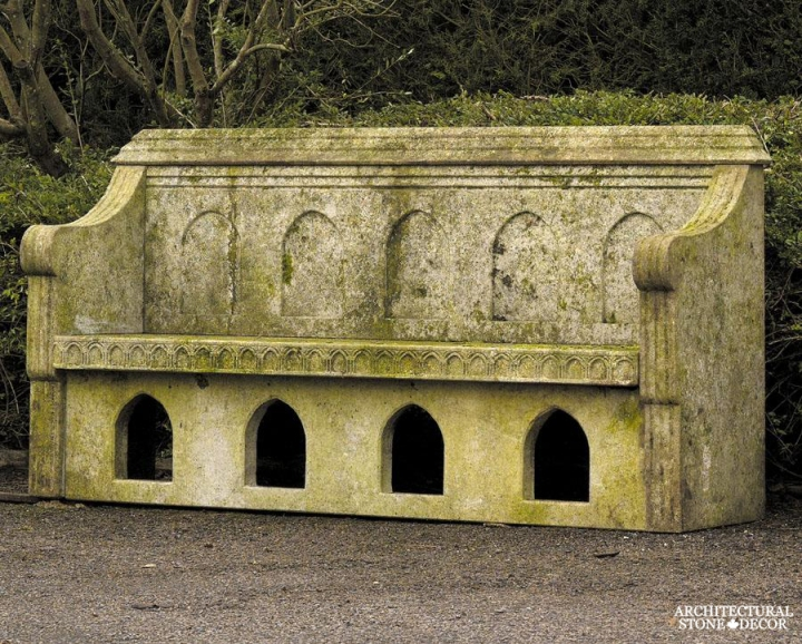 Antique-limestone-hand-carved-benches-outdoor-garden-10