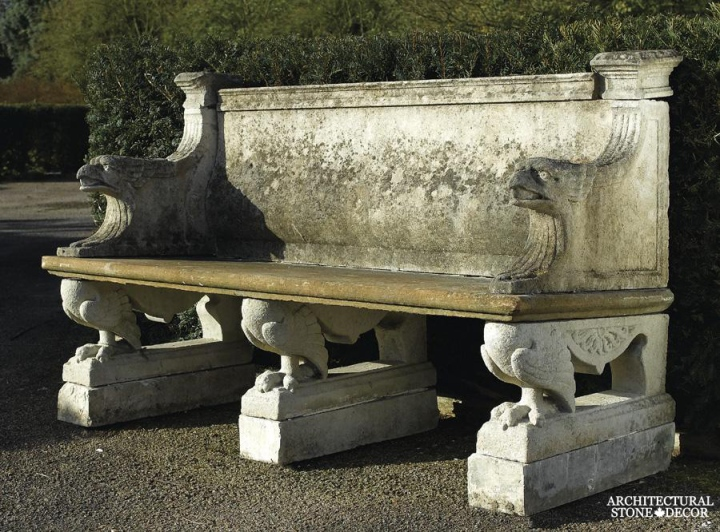 Antique-limestone-hand-carved-benches-outdoor-garden-11