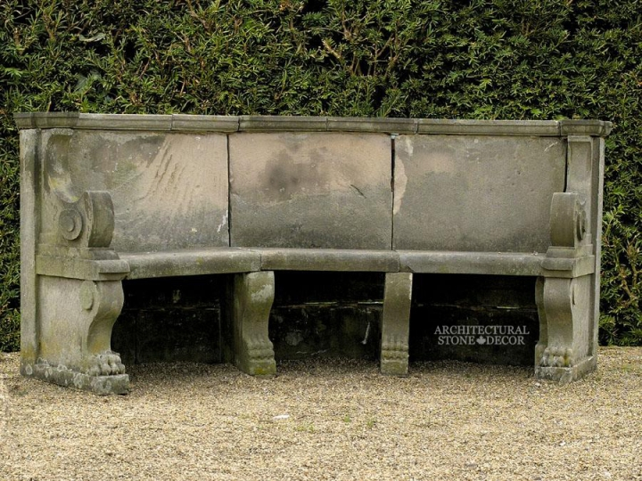 Antique-limestone-hand-carved-benches-outdoor-garden-12