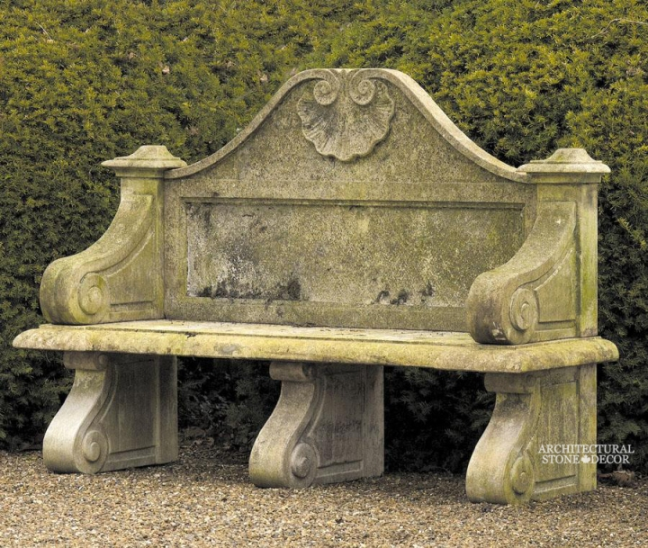 Antique-limestone-hand-carved-benches-outdoor-garden-15