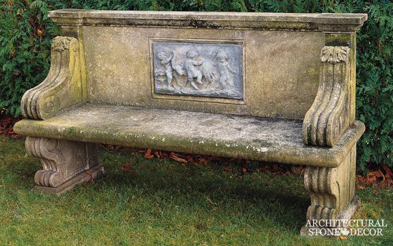 Antique-limestone-hand-carved-benches-outdoor-garden-3