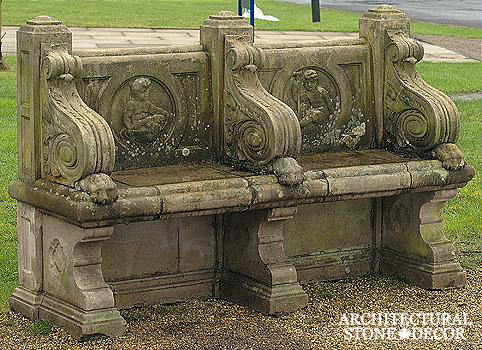 Antique-limestone-hand-carved-benches-outdoor-garden-4