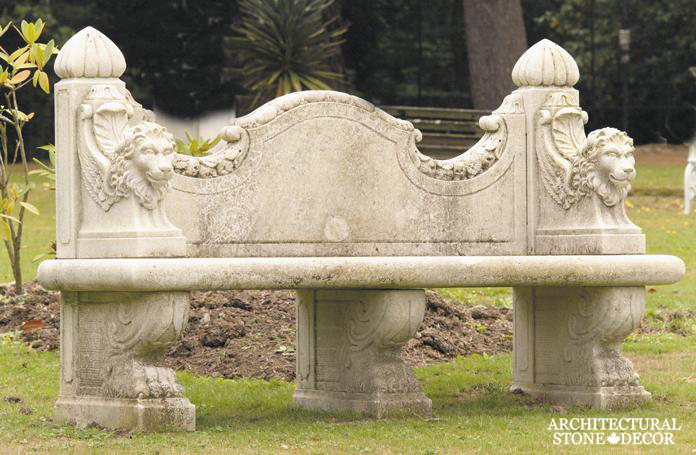 Antique-limestone-hand-carved-benches-outdoor-garden-7