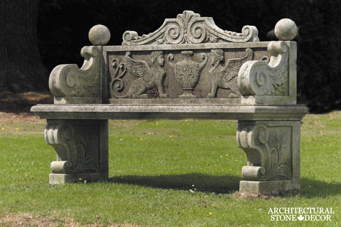 Antique-limestone-hand-carved-benches-outdoor-garden-9