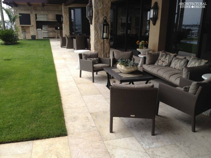 antique reclaimed natural limestone outdoor flooring garden backyard