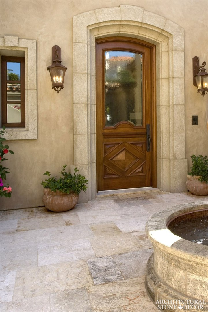 antique reclaimed natural limestone outdoor flooring frontyard stone entryway