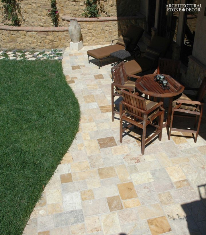 natural stone limestone flooring antiqued old world outdoor garden yard ca