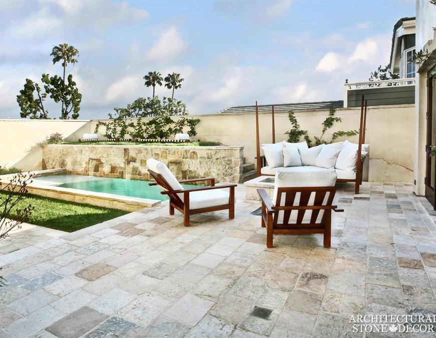reclaimed old antique rustic limestone flooring pool outdoor home design decor ca