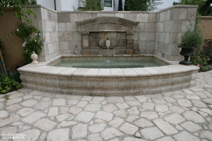 honed outdoor cobble stone flooring