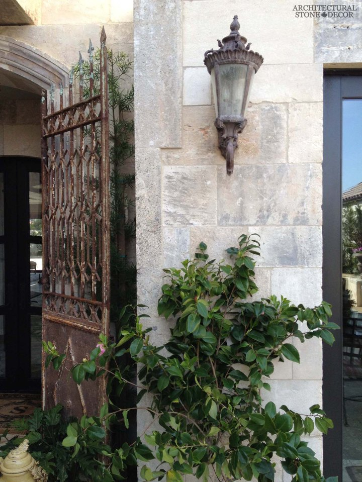 Outdoor Exterior French country style natural stone limestone wall cladding veneer Canada ca