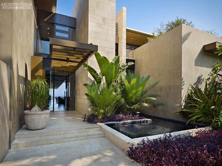 Outdoor Exterior modern style natural stone limestone wall cladding veneer flooring Canada ca