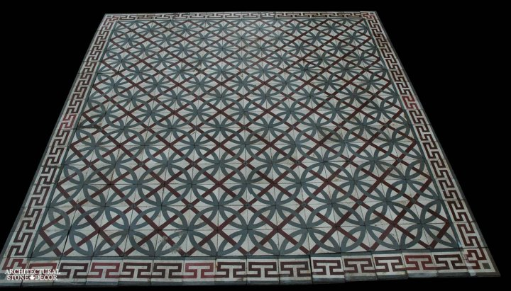 Canada ca Toronto Vancouver reclaimed antique old french colored cement pavers encaustic tiles flooring home style interior design decor