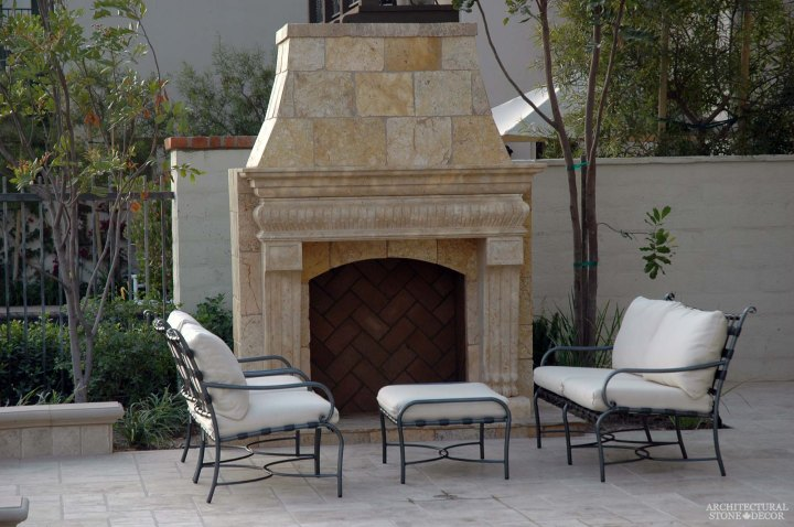 canada toronto vancouver BC CA UK style home villa interior design home decor salvaged reclaimed rustic antique natural stone hand carved outdoor limestone fireplace mantel