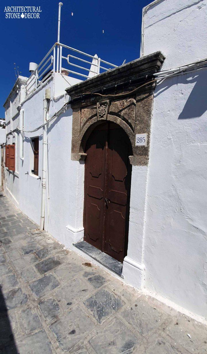 partial stone entryway
