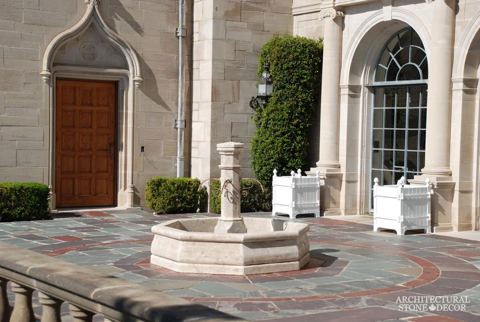 Antique outdoor limestone pool fountain canada architectural stone decor