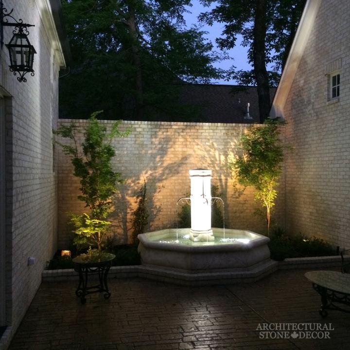 Antique outdoor limestone pool fountain toronto canada architectural stone decor