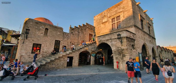 old town Rhodes natural stone architecture home design Medieval style ca BC canada
