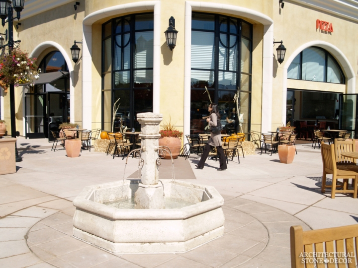 outdoor beautiful stone pool fountain