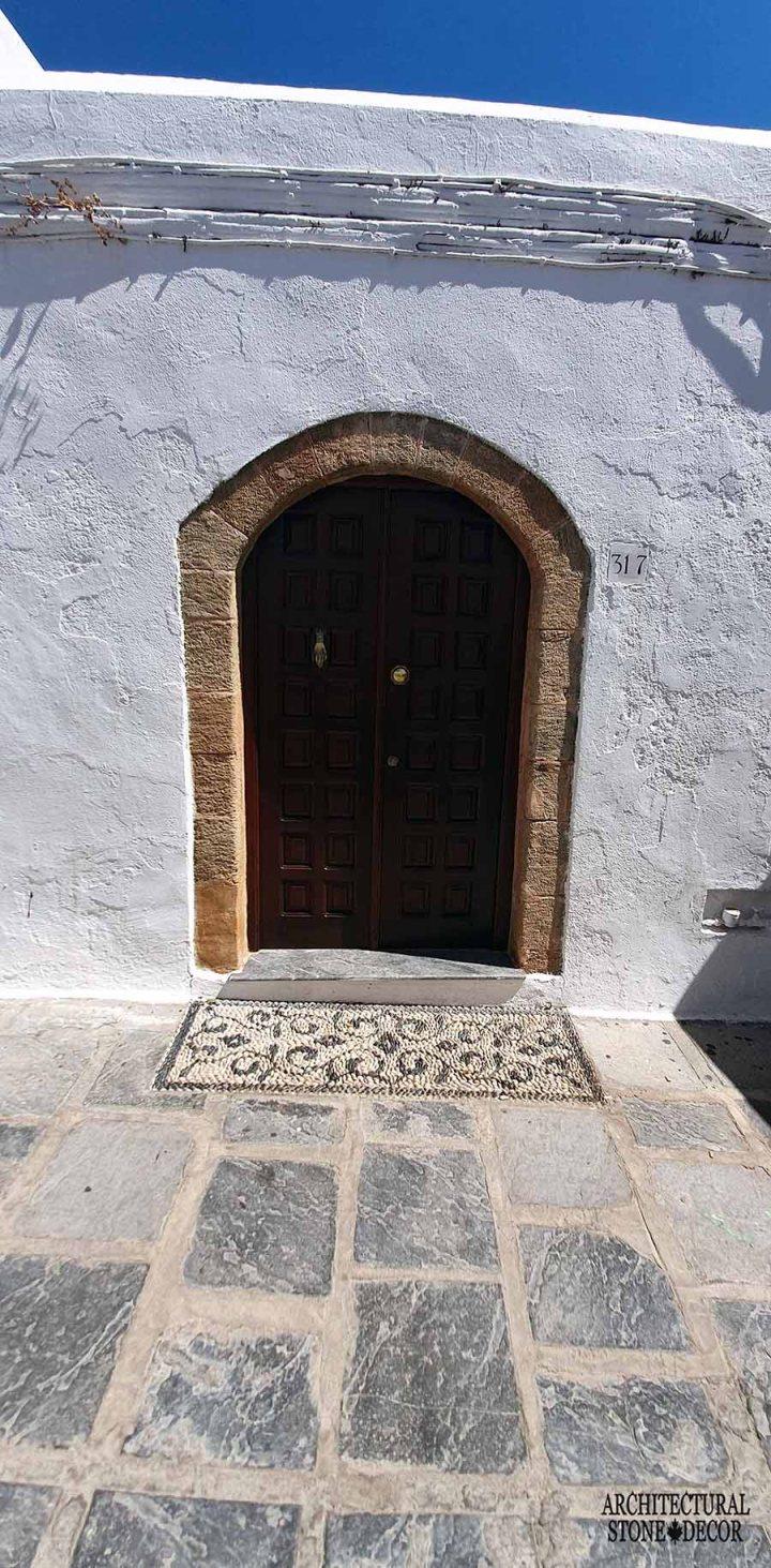 Mediterranean style old town Rhodes natural stone door surround architecture home interior design ca BC canada