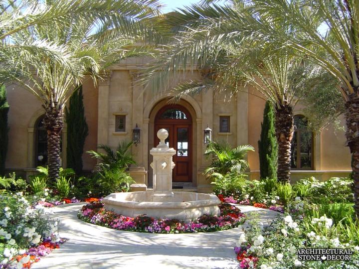 Outdoor-limestone-pool-fountain-canada-garden-architectural-stone-decor-stone-carved