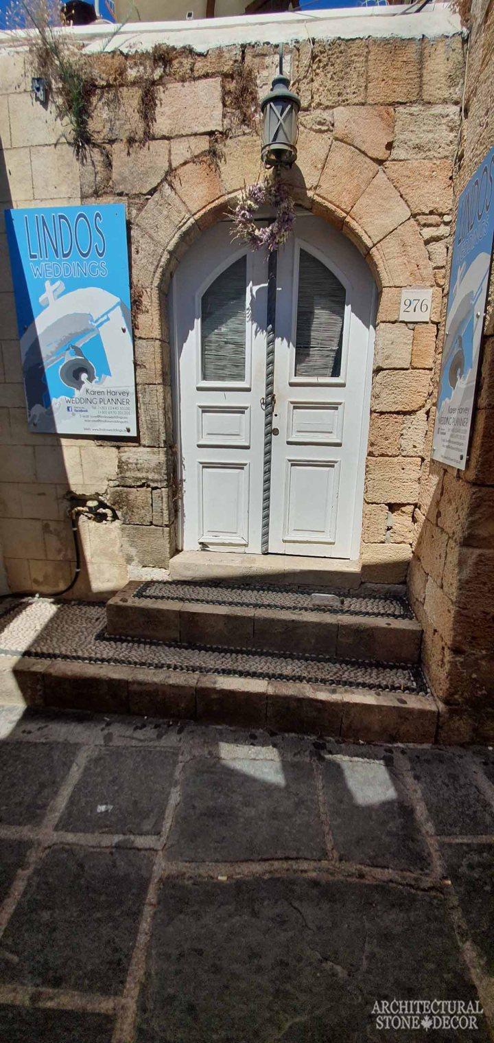 Mediterranean style old town Rhodes natural stone door entryway architecture home interior design ca BC canada