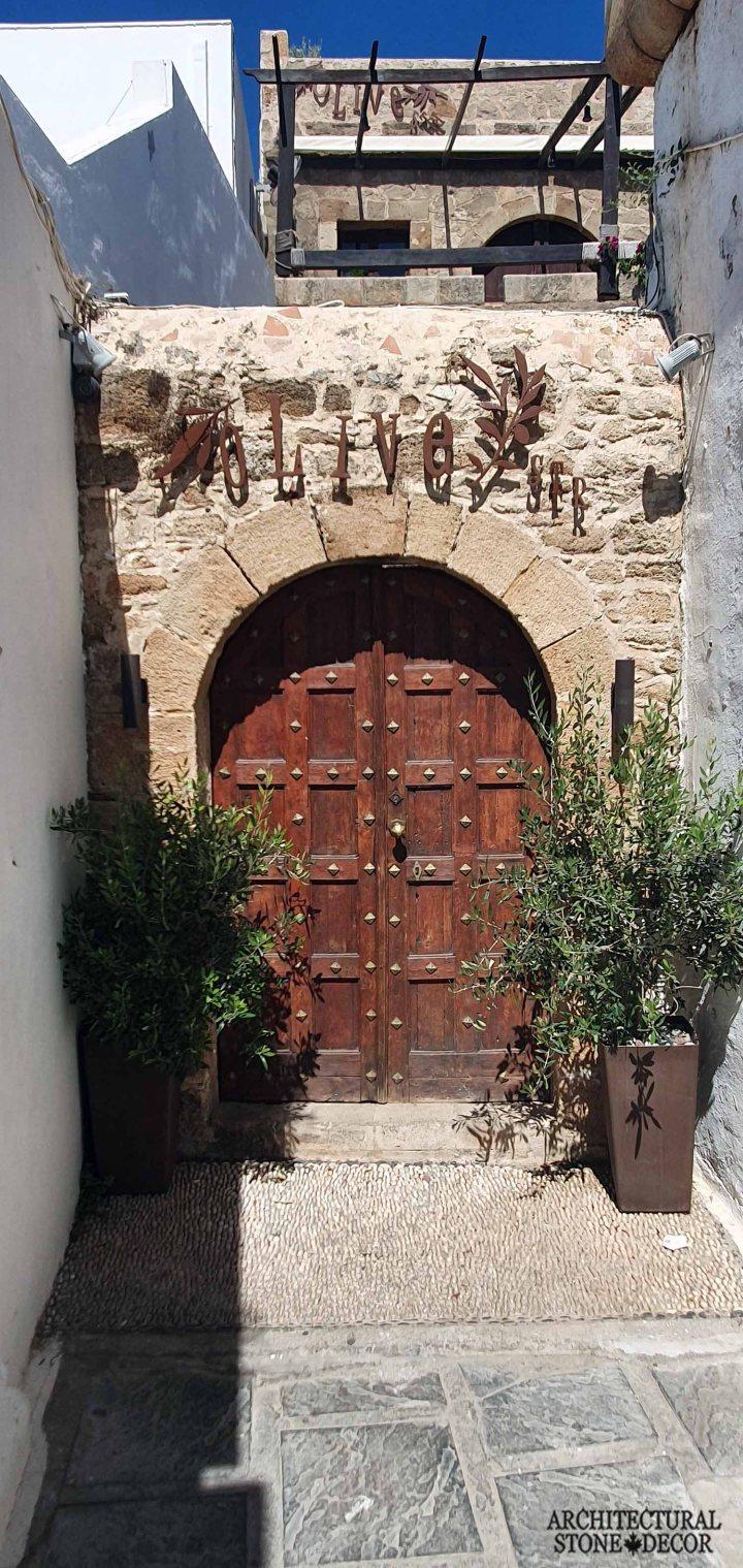 stone door surround cladding