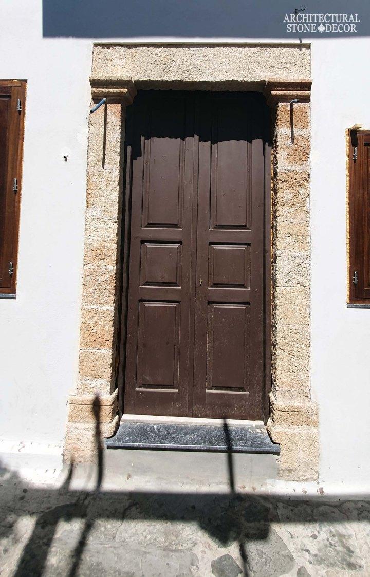 Mediterranean style old town Rhodes natural stone door surround entryway architecture home interior design ca BC canada