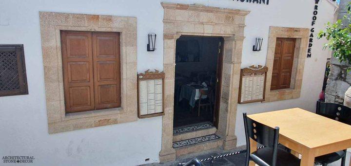 Mediterranean style old town Rhodes natural stone window surround entryway architecture home interior design ca BC canada
